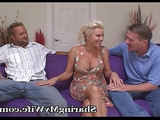 Blonde Cougar Couple Facials Fantasy Group Sex Hardcore Hot