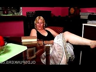 Blonde Busty Cougar Cute BBW Fatty Fuck Granny