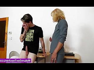 Big Cock Handjob Mammy Mature MILF Natural Playing Teacher