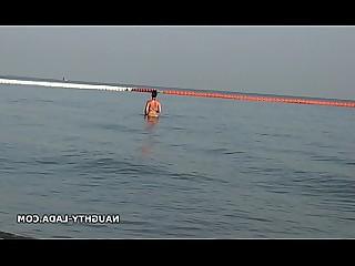 Wet Rough Public MILF Bikini Beach