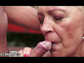 Blonde Blowjob Big Cock Cumshot Fingering Granny Hardcore Hot