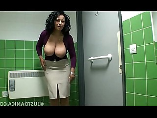 Beauty Boobs MILF Nasty Oil Playing Public Tease