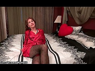 Cougar Granny HD Mature MILF Nylon Panties Stocking