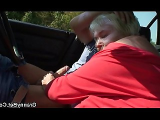Pussy Pleasure Old and Young Mature Hot Granny Car Slender