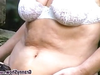 BBW Granny Hardcore Mature Old and Young Outdoor Teen