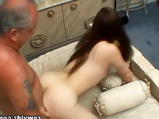 Blowjob Nasty Brunette Granny Old and Young Chick Hardcore Oral