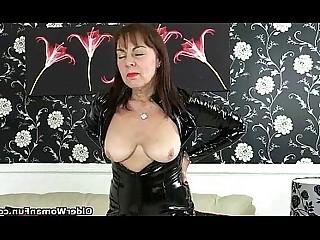 Stocking Solo Pleasure Mammy Pussy Mature HD Granny