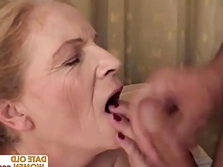 Mature Big Tits Blonde Facials Fatty Granny Mammy
