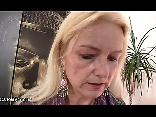 Blonde Big Cock Granny Horny Hot Mature Old and Young Pleasure