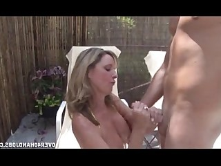 MILF Mature Jerking Handjob Teen Pool Old and Young