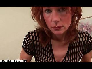 HD Granny Solo Pussy Redhead Mature