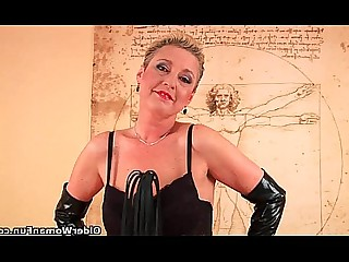 BDSM Dildo Granny HD Kitty Latex Lingerie Mammy