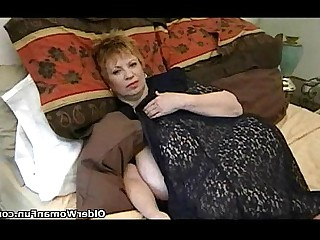 Big Tits BBW Granny Mammy Mature MILF Playing Vibrator