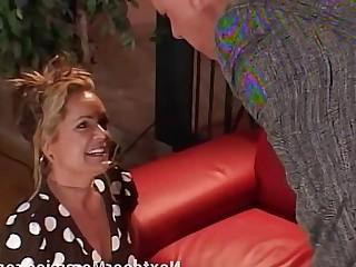 MILF Tattoo 18-21 Blonde Blowjob Couch Cougar Cumshot