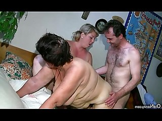 Old and Young Pussy Teen Threesome Toys Mature Hairy Granny