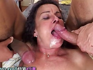 Anal Double Anal MILF Threesome Mature Hot Hardcore Fuck