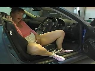 Hairy Car Public Pussy MILF Mature Masturbation Outdoor