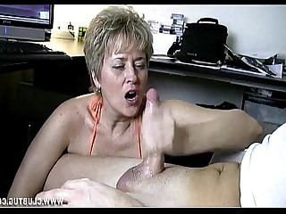 Public Car Granny Handjob Jerking Mature MILF Nasty