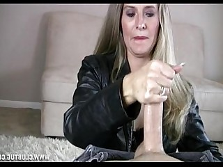 Party Jerking Mature MILF Handjob Blonde