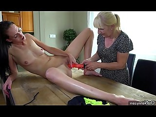 Hairy Old and Young Cute Toys Threesome Teen Pussy Nasty