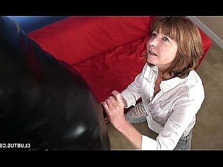 Uniform Slave Nasty MILF Fetish Mature Latex Jerking