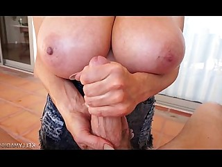 Huge Cock Jerking Mature MILF Wife Big Tits Boobs Bus