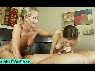 Amateur Threesome Teen Really MILF Mature Mammy Handjob