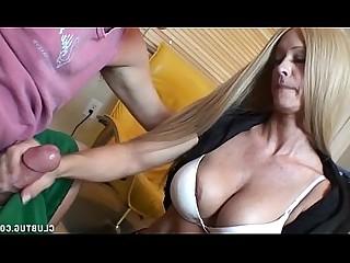 Big Cock Handjob Hot Huge Cock Jerking Mature MILF