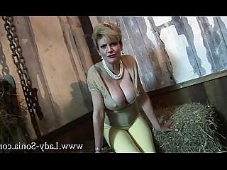 Blonde Mature MILF Tease