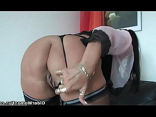 Solo Masturbation Nylon Mammy Stocking Mature Lingerie