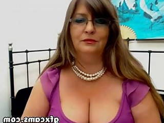 Amateur BBW Granny Mature Striptease Tease Webcam