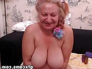 Playing Masturbation Mature Granny Fingering Dildo Amateur Webcam
