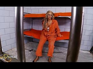 Uniform Strapon Pussy MILF Dildo Blonde Big Tits Anal