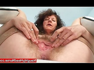 Masturbation Mammy Kinky Hairy Fetish Dildo Crazy Close Up