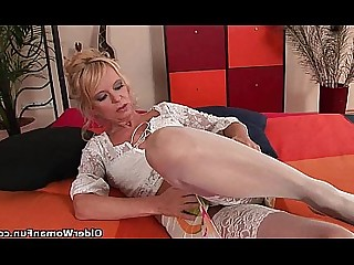 Dildo Ass Anal Stocking Playing MILF Mature Mammy