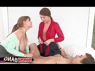 Mammy Hardcore Fuck Boyfriend Blowjob Threesome Blonde Teen