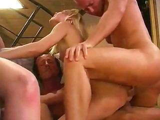 Orgy Double Anal MILF Gang Bang Double Penetration Blowjob Anal