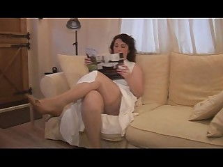 Stocking Solo Skirt Shaved Pussy Upskirt MILF Striptease