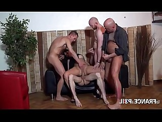 Gang Bang Bus Playing MILF Mature Group Sex