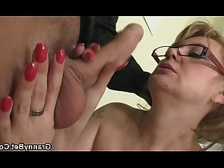 Old and Young Office Mature Mammy Housewife Hardcore Granny Fuck