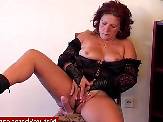 Granny Solo Playing Mature Masturbation