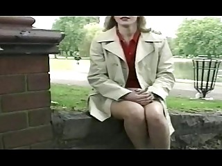 Public Outdoor Posing Blonde MILF