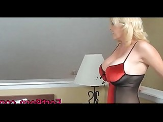 Mature Lingerie Hardcore Blowjob Blonde Big Tits Stocking Nylon