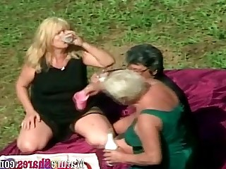 Granny Fatty Outdoor Facials Crazy Mature