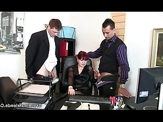 Office Old and Young Really Mature Mammy Housewife Granny Cumshot