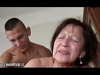 Old and Young Ass Pleasure Big Tits Pussy Blowjob Rimming Brunette