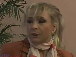Nasty Moan MILF Mature Granny Blonde Nylon