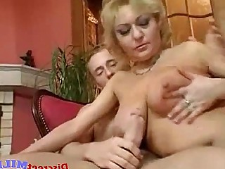 Housewife Cumshot Cum Boobs Blonde Big Tits Wife MILF