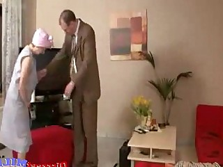 Slender Sucking MILF Mature Housewife Granny Glasses Cumshot