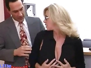 Blonde Stocking Office MILF Mature Hardcore Glasses Fuck